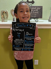 Load image into Gallery viewer, First Day Of School Chalkboard