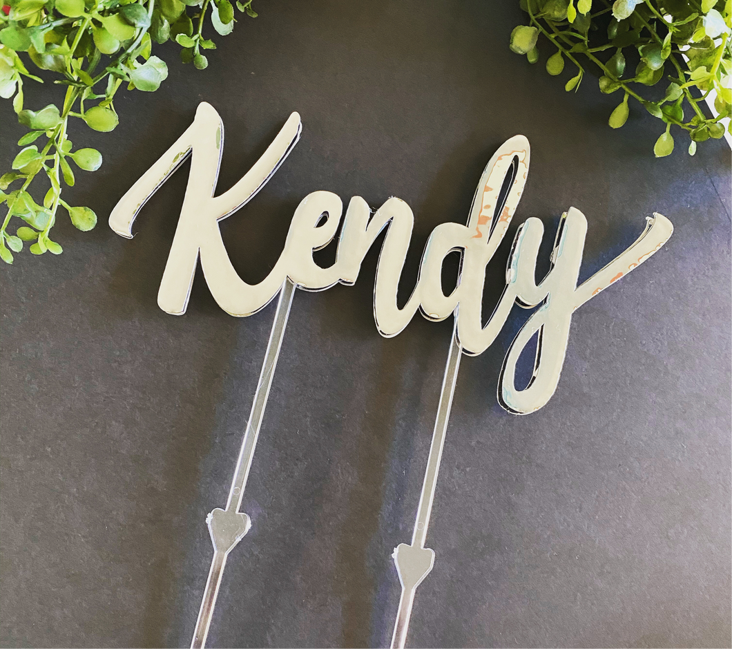 Custom Name Cake Toppers