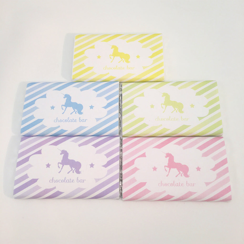 Unicorn Chocolate Bars - Pk 5