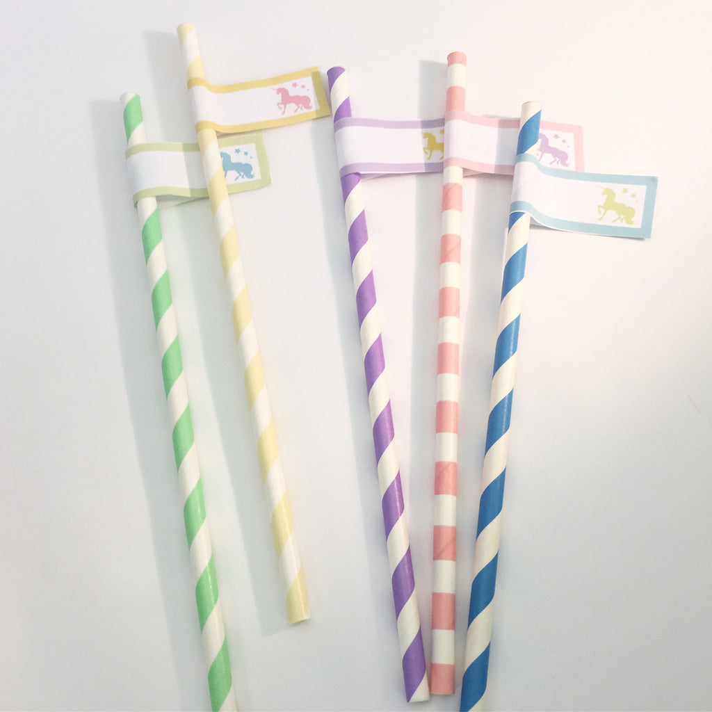 Unicorn Straws - Pk 10