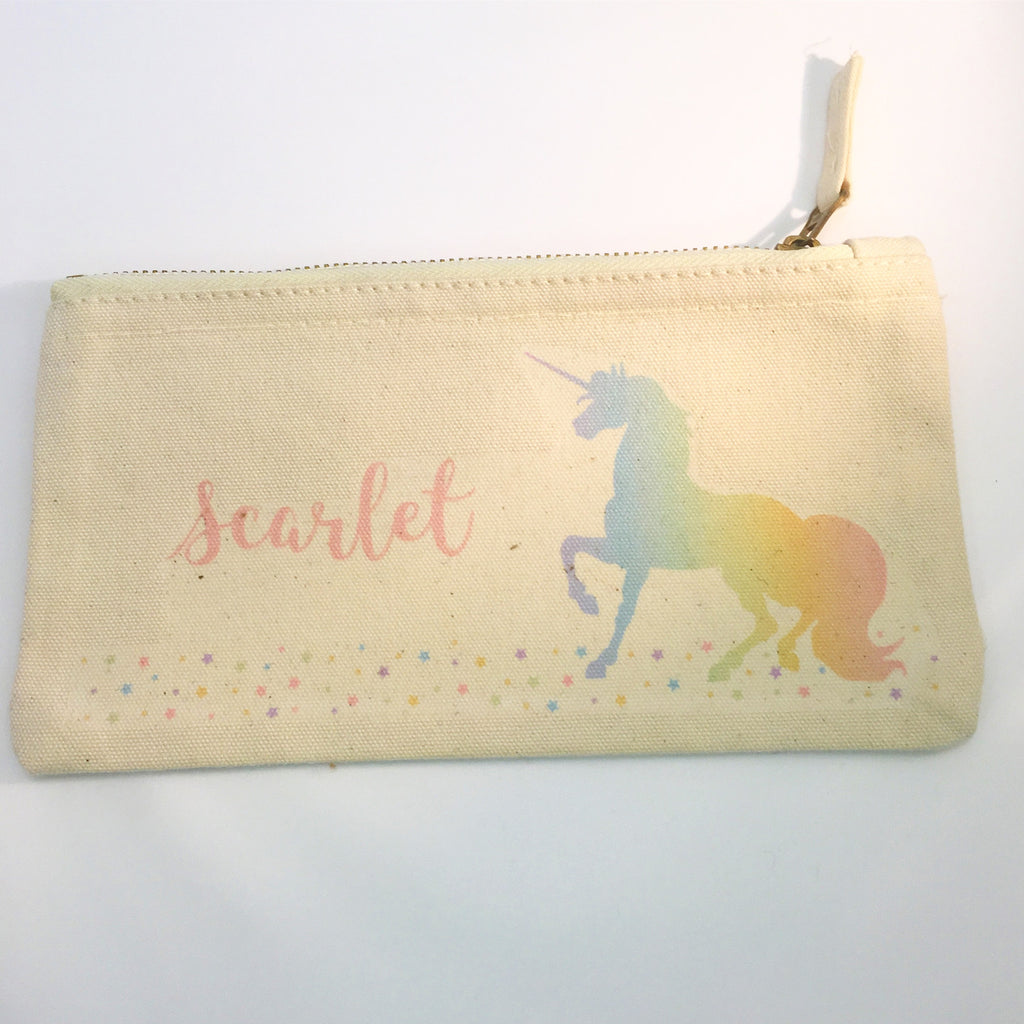 Unicorn Personalised Pencil Case