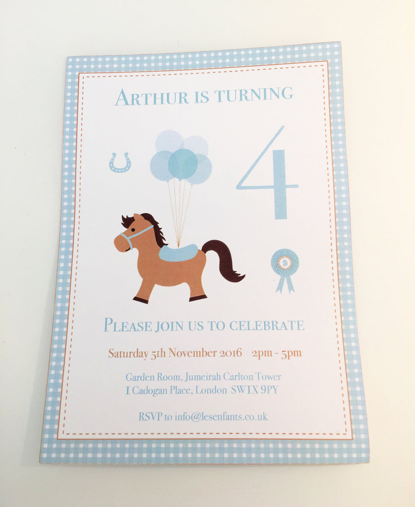 Personalised Little Pony Invitation - Pk 10