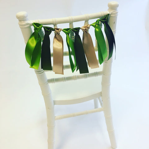 Safari Green Ribbon Chair Back