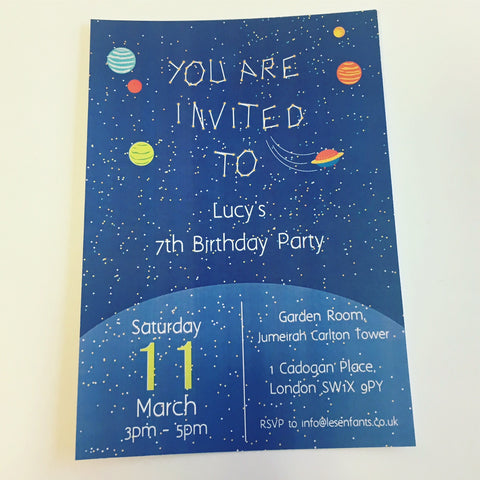 Personalised Space Invitation - Pk 10