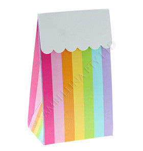 Rainbow Striped Treat Box - 12 Pk