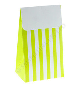 Lime Striped Treat Box - 12 Pk