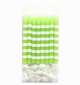 Lime Striped Candles