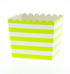 Lime Scalloped Edge Favour Boxes - 6 PK