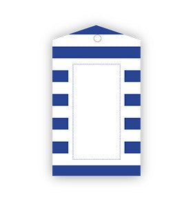 Navy Striped Gift Tags - Pk 12