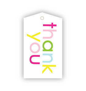 Thank You Rainbow Gift Tags - Pk 12