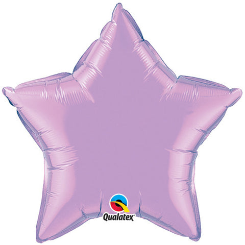 Lilac Star Foil Balloon