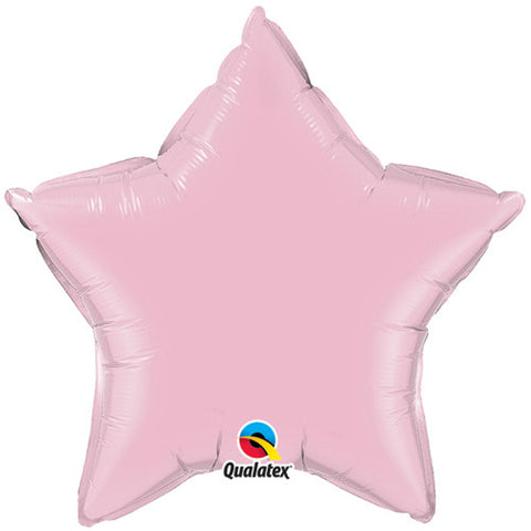 Pale Pink Star Foil Balloon