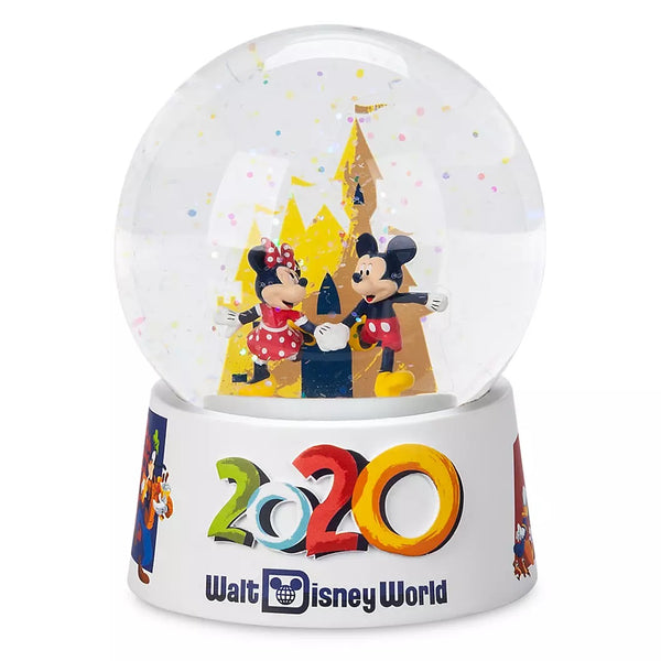 2020  Walt Disney World Mickey and Minnie Mini Snowglobe
