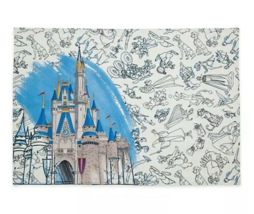 Ink and Paint Character Sketch Large Reversable Cloth Placemats