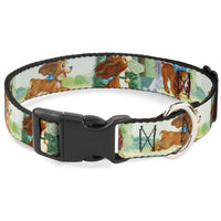 Buckle-Down Lady 3 Poses  Plastic Clip Collar