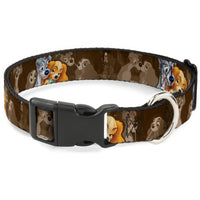 Buckle-Down Lady & the Tramp Spaghetti Kiss Plastic Clip Collar