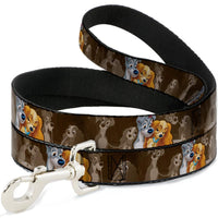 Buckle-Down Lady and the Tramp Spaghetti Kiss Leash