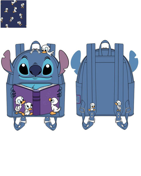 PRE-ORDER JUNE LF LILO & STITCH STORY TIME DUCKIES MINI BACKPACK