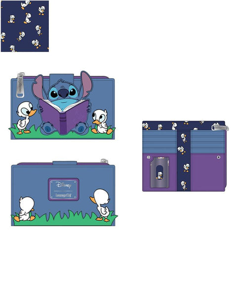 PRE-ORDER JUNE LF LILO & STITCH STORY TIME DUCKIES FLAP WALLET
