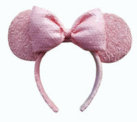 Minnie Sequin Ear Headband Millennial Pink