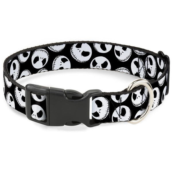 Buckle-Down Nightmare Before Christmas Jack Expressions Scattered Plastic Clip Collar