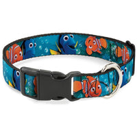 Buckle-Down Nemo and Dory Plastic Clip Collar
