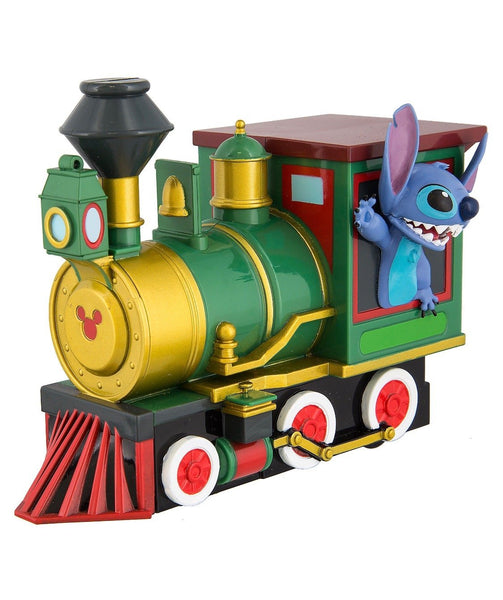 Disney Stitch In Train Pull Back Toy