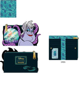 PRE-ORDER JUNE LF VILLAINS SCENE URSULA CRYSTAL BALL FLAP WALLET