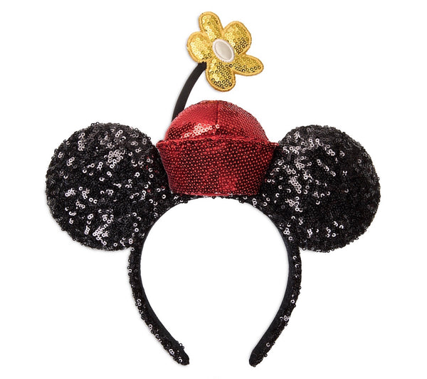 Minnie Mouse Sequined Ear Headband with Flowerpot Hat