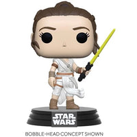 Star Wars Rey with Yellow Light Saber Pop!
