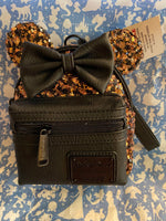 Belle of the Ball Black and Bronze Loungefly Wristlet