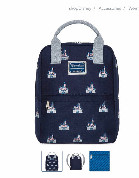 Sleeping Beauty's Castle Canvas Mini Backpack by Loungefly