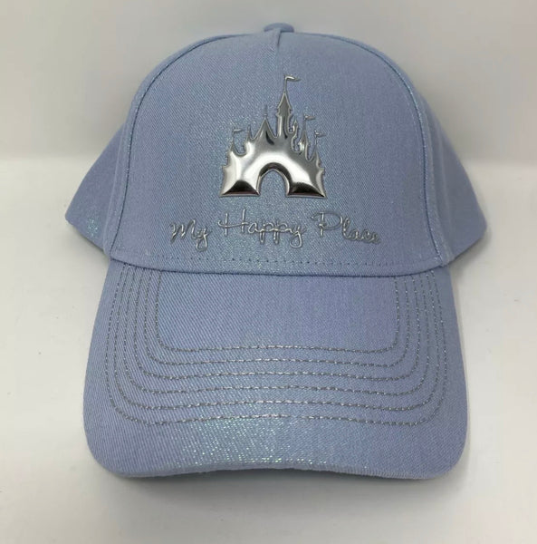 Disney World Iridescent Blue Glimmer Baseball Cap