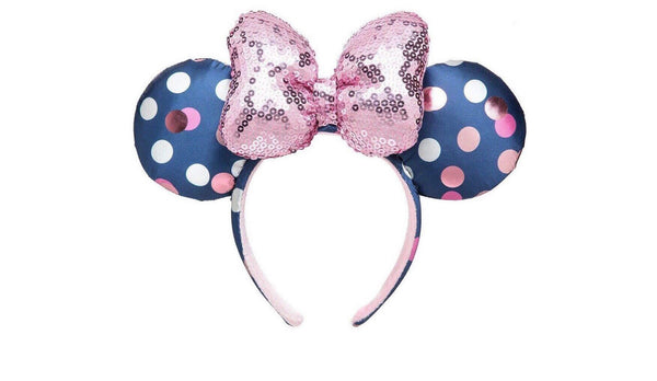 Disney Parks 2020 Rock the Dot Sequins Minnie Ears Disney Bow Polka Dot Headband