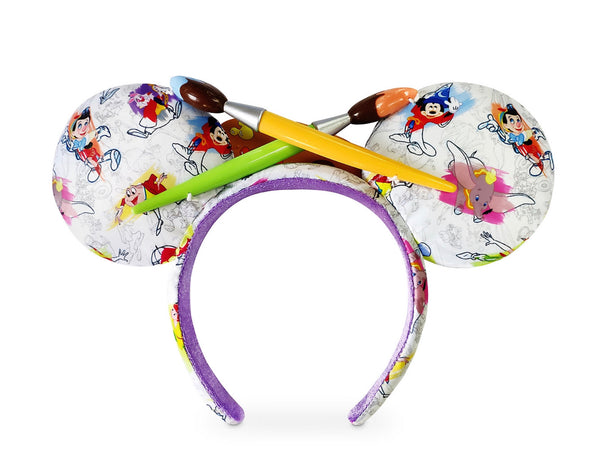 Ink and Paint Headband with Paint Brush Bow