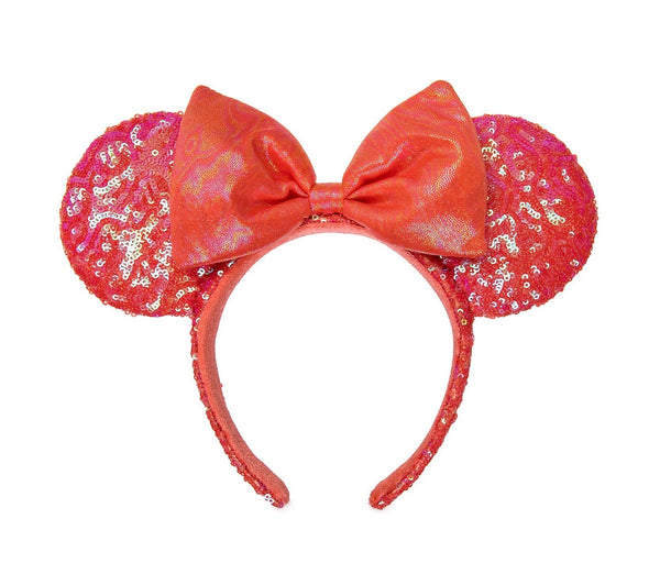 Minnie Mouse Sequined Ear Headband Coral