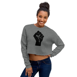 Black Lives Matter Fist Women's Crop Sweatshirt