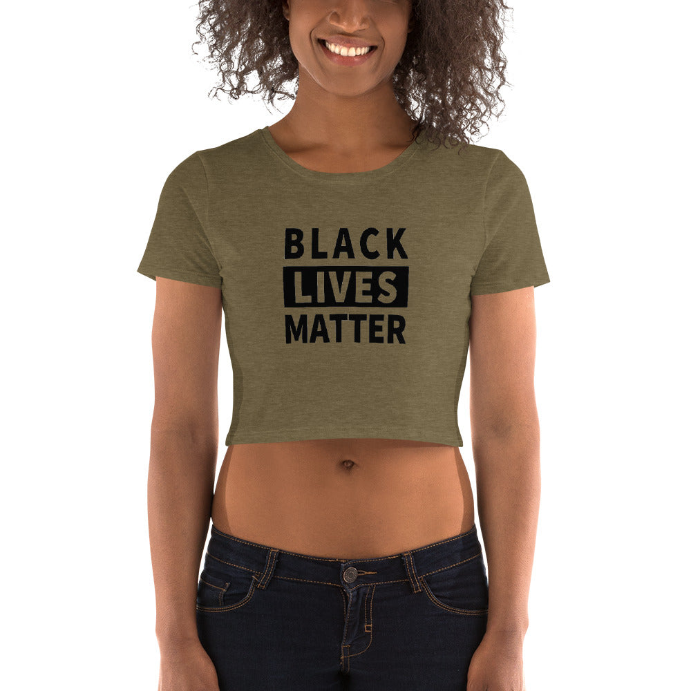 Black Lives Matter Women's Crop Tee