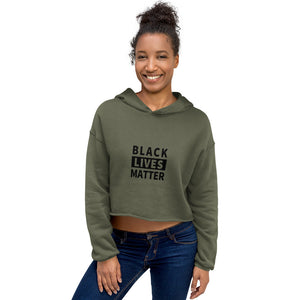 Black Lives Matter Women's Crop Hoodie