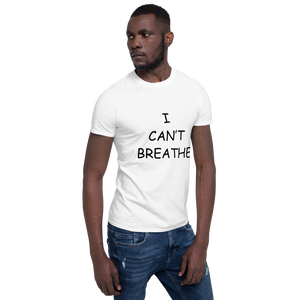I Can't Breathe BLM White Men's T-Shirt