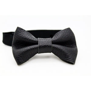Kids' Leather Bow Tie