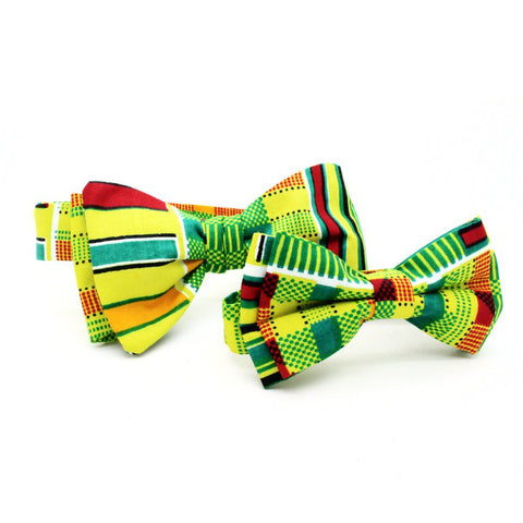 Parent + Child Bow Tie Set - Vivid African Batik