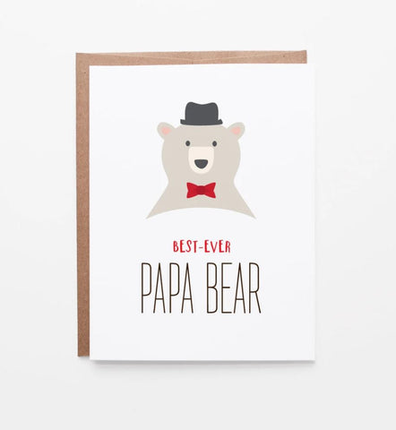 Best Papa Bear Card
