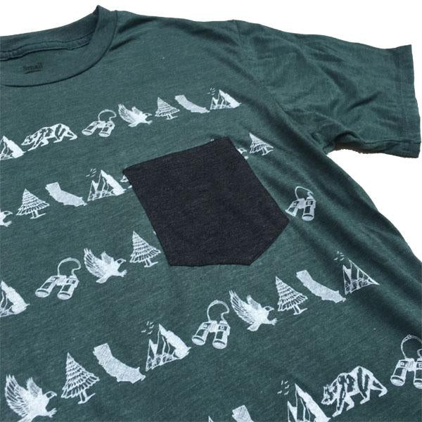 California Classic Forest Green Pocket Tee