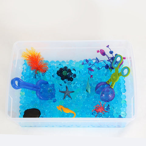 Coral Reef Sensory Bin Play Kit for Kids