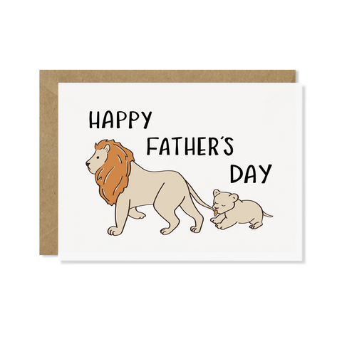 Lion and Cub Father's Day Card