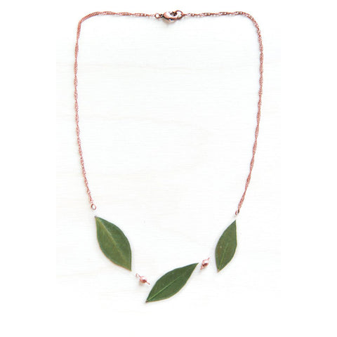 Myrtle Leaf Necklace