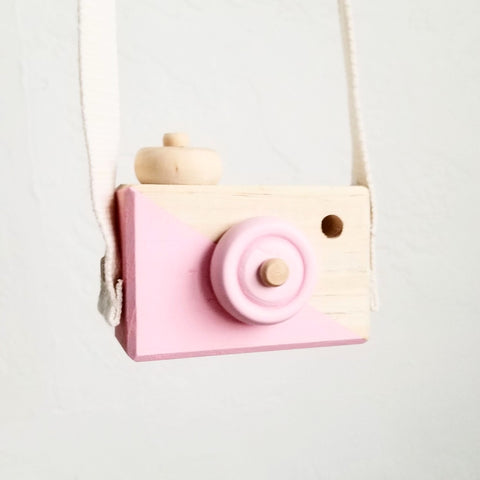Wooden  Camera Toy: Pink