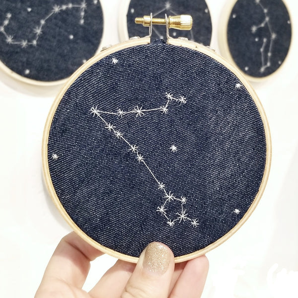 Astrology Constellation Embroidery Art