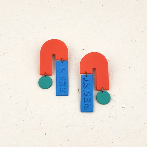 """Resist"" Statement Earrings"